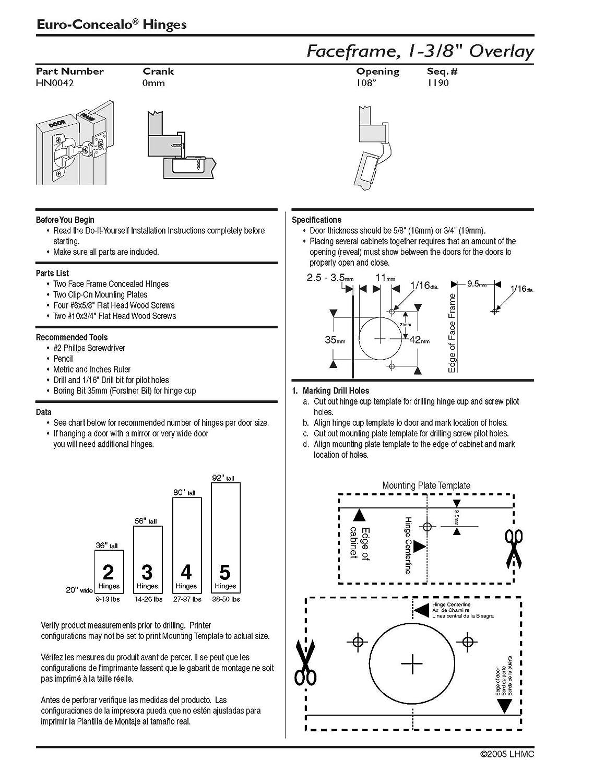 Amazon.com: Liberty HN0042L-NP-U 1-3/8-Inch Overlay Hinge 108-Degree ...
