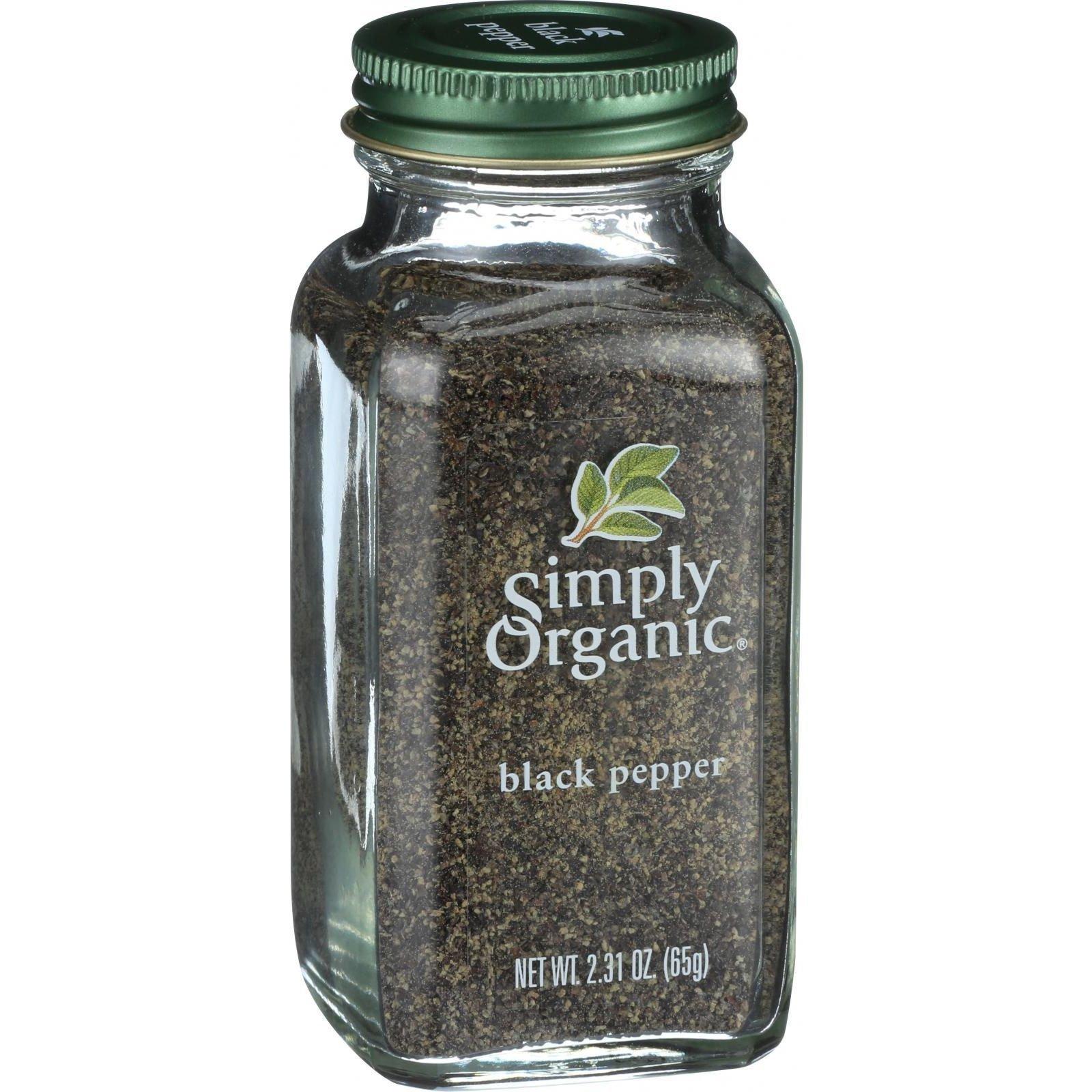Simply Organic Black Pepper, 2.31 Ounce - 6 per case