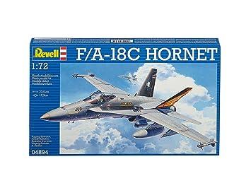 Revell Revell-F/A-18C Maqueta F/A-18C Hornet, Kit Modello, Escala 1:72 (4894) (04894),, 23,5 cm (