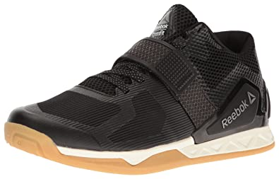 b305d3891bb Reebok Men s Crossfit Transition LFT Black Classic White RBK Rubber  Gum Pewter Athletic