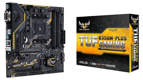 ASUS AMD Ryzen AM4 DDR4 HDMI DVI VGA M 2 USB 3 1 MicroATX B350 Motherboard  (TUF B350M-PLUS GAMING)