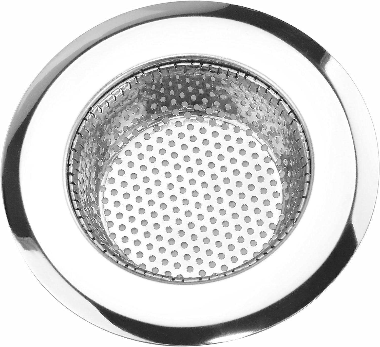 19er-Set Edelstahl Abfluss-Sieb, 19 cm Abfluss Sieb Metall Durchmesser  Abflusssieb Dusche Ideal für Küche und Bad,Abflusssieb aus Metall Schutz  vor
