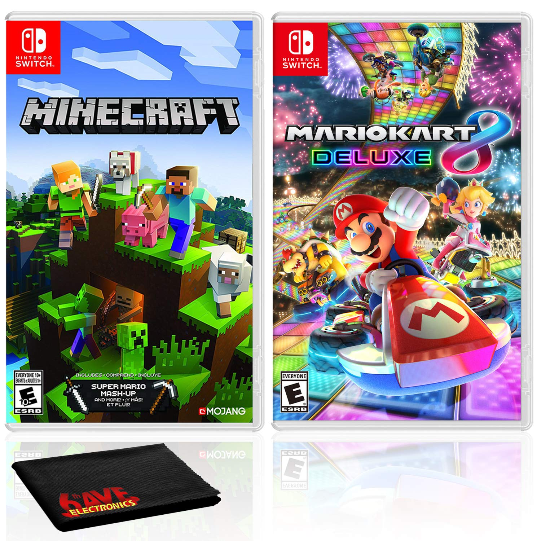 Amazon.com: Minecraft + Mario Kart 9 Deluxe - Two Game Bundle