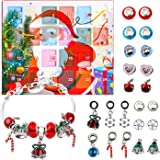 KITPIPI Advent Calendar DIY Bracelets Fashion Jewelry Set with 22 Charms 2020 Christams Countdown Calendar Gifts for…