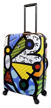 Amazon.com | Heys USA Luggage Britto Butterfly 26 Inch Hard Side ...