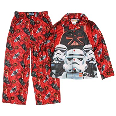 Amazon.com: Lego Star Wars Boys Red Flannel Pajamas Darth Vader ...