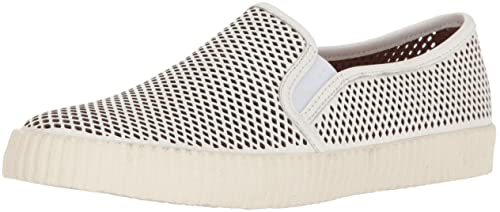 Womens Camille Perf Slip Fashion Sneaker, White, 11 M US Frye
