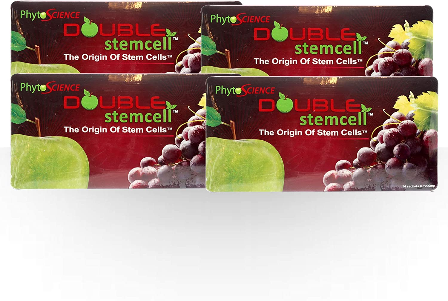 4 Pack PhytoScience Double Stem Cell Apple Grape StemCell Anti Aging Swiss Quality Formula