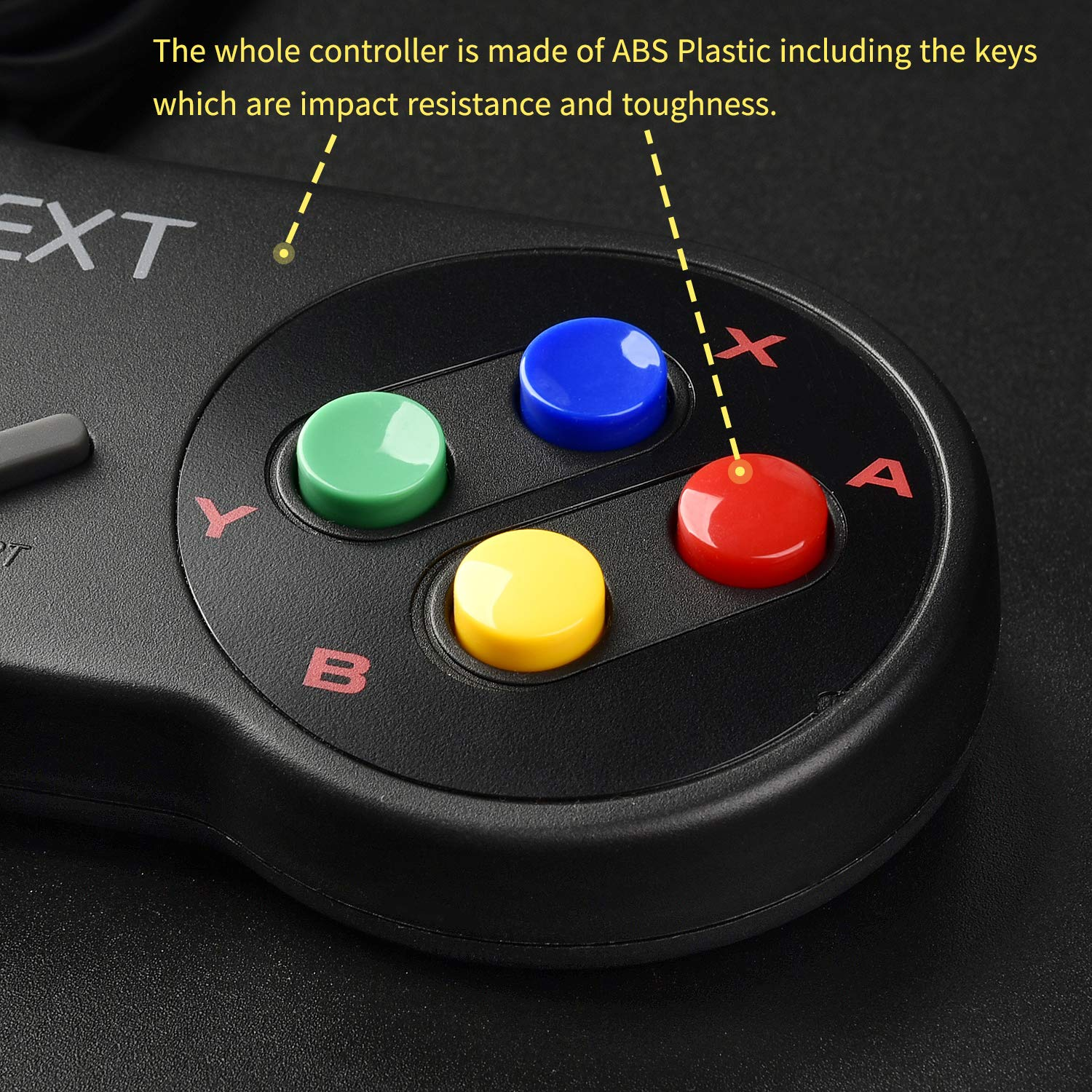 iNNEXT SNES Retro USB Controller Gamepad Joystick, USB PC Super Classic  Controller Joypad Gamestick for Windows PC MAC Linux Raspberry Pi 3 Sega