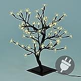 64er LED Lichterzweig Baum mit Blüten warm weiß Lichterkette Energiespar XMAS