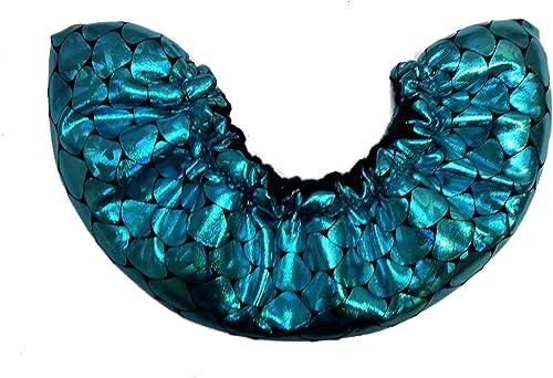 Igloo Sports Mermaid Teal ice Skate'soakers, ice Skate Blade Covers