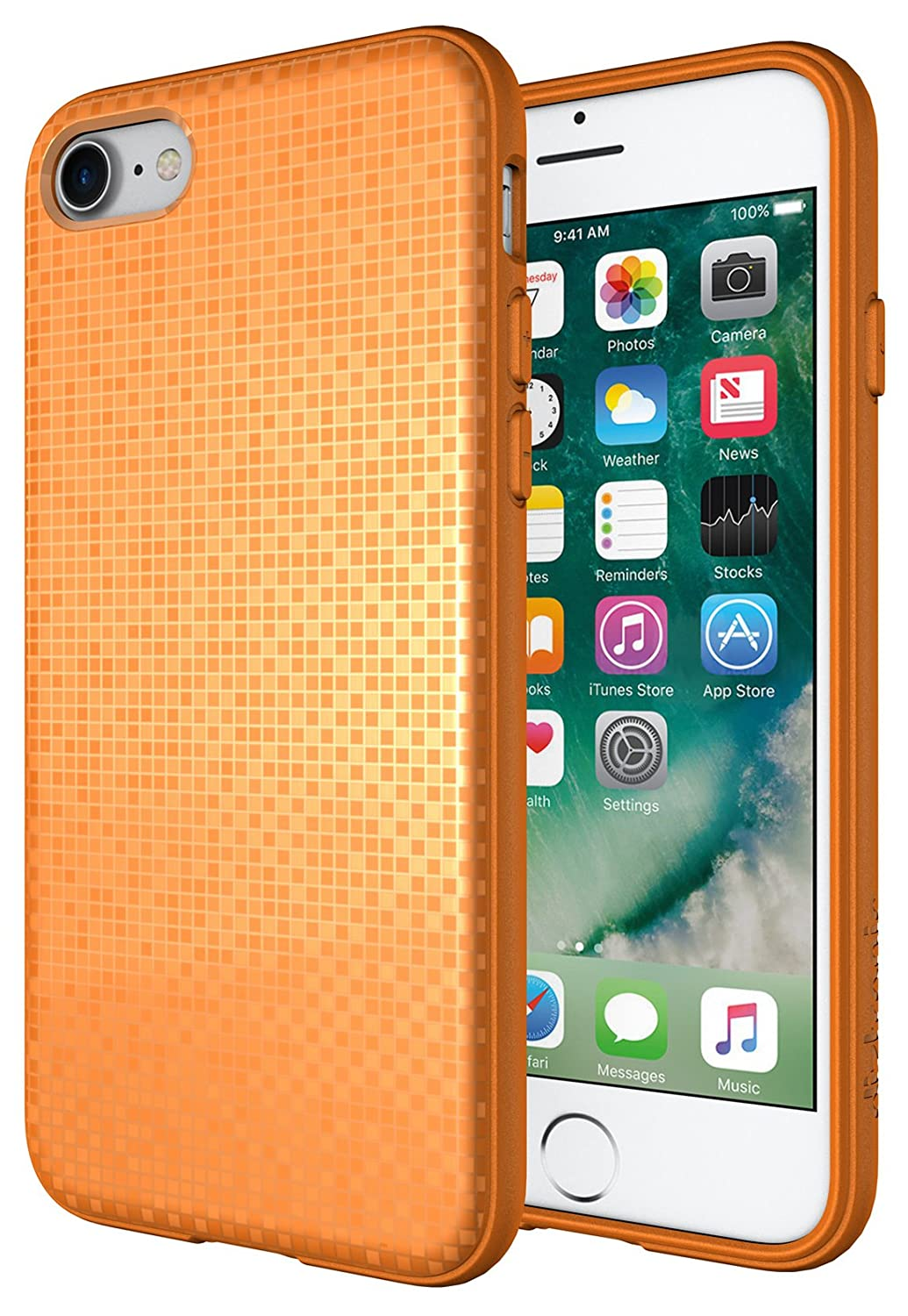 outlet store 38553 368bb iPhone 7 Case, Diztronic Pixlee Soft Touch Slim-Fit Flexible TPU Case for  Apple iPhone 7 (Pixlee Orange Pastel) - Retail Packaging