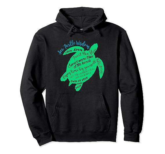 8288e59c04fe53 Amazon.com  Green Sea Turtle Hawaiian Honu Wisdom Hoodie  Clothing