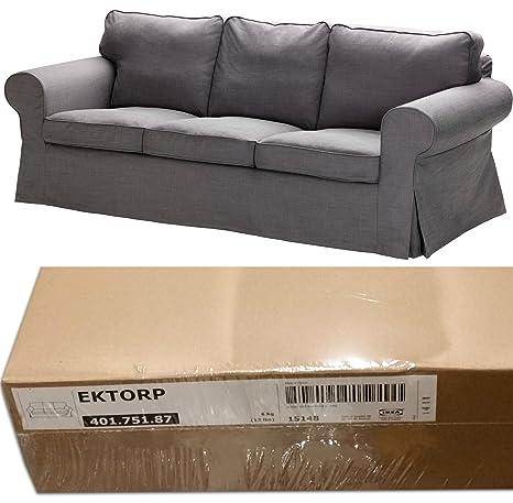 Amazon.com: IKEA EKTORP 3 asiento sofá Slipcover Svanby gris ...