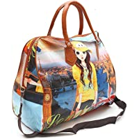 ZIZLY Women's Polyester Printed Hobo Bag Hand Bag, Shopping Mall Shoulder Luggage Bag (Multicolored)