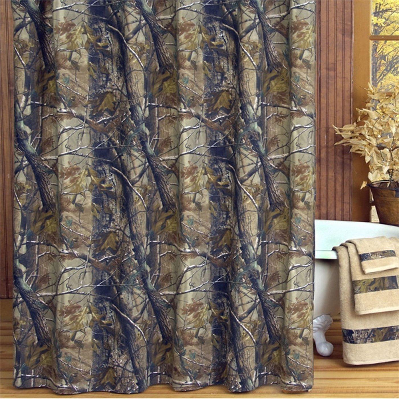. Amazon com  Realtree All Purpose Shower Curtain  Home  amp  Kitchen