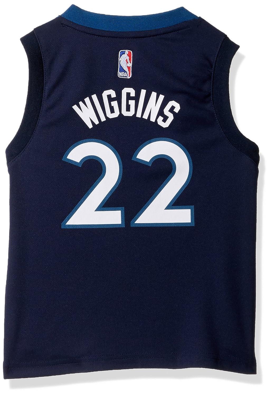 4 Small Outerstuff NBA Minnesota Timberwolves-Wiggins Kids Replica Player Jersey-Road Capital Blue
