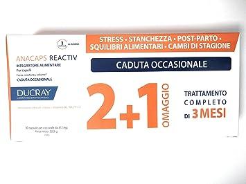 Anacaps - Ducray Tratamiento Reactiv de 60 + 30 comprimidos para la caída ocasional del cabello: Amazon.es: Belleza