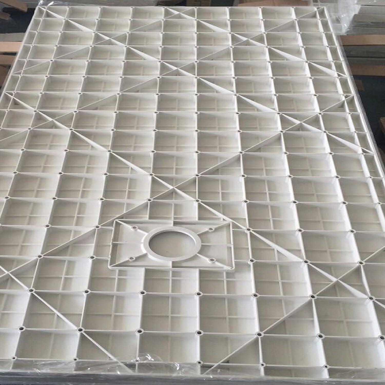Piatto Doccia H.2,6 cm In Vetro-resina SMC Effetto Pietra Stone Ardesia Piletta Doccia Inclusa 90x90 h 2.6cm, Bianco