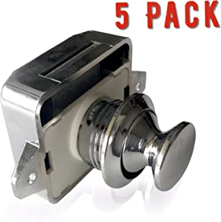 AMT Package Of FIVE Cabinet Lock Keyless Push Button Cabinet Latch For Rv/Motor  Home