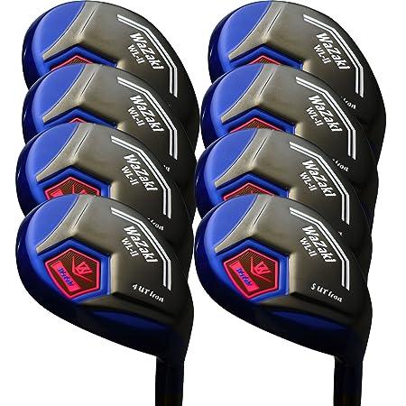Japan WaZaki Black Oil Finish WL-IIs 4-SW Mx Steel Hybrid Irons Golf Club Set Headcover