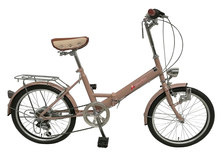 リズム(RHYTHM) 20インチ 折りたたみ自転車 シマノ6段変速 RH206CPBD-MKC ミルクココア 34097.0 B01MTQ8PR9