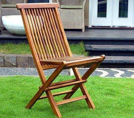 chaises de jardin pliante en teck huilé
