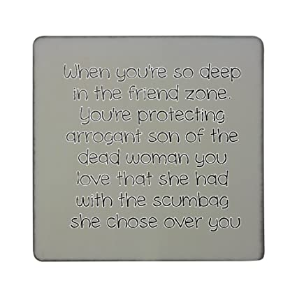 Amazon Com Quote About Deep Thinking Hardboard Square Fridge Magnet