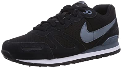 NIKE Air Waffle Trainer Leather, Herren Sneakers, Schwarz (Black Blue  Graphite- 0fbb4c3678