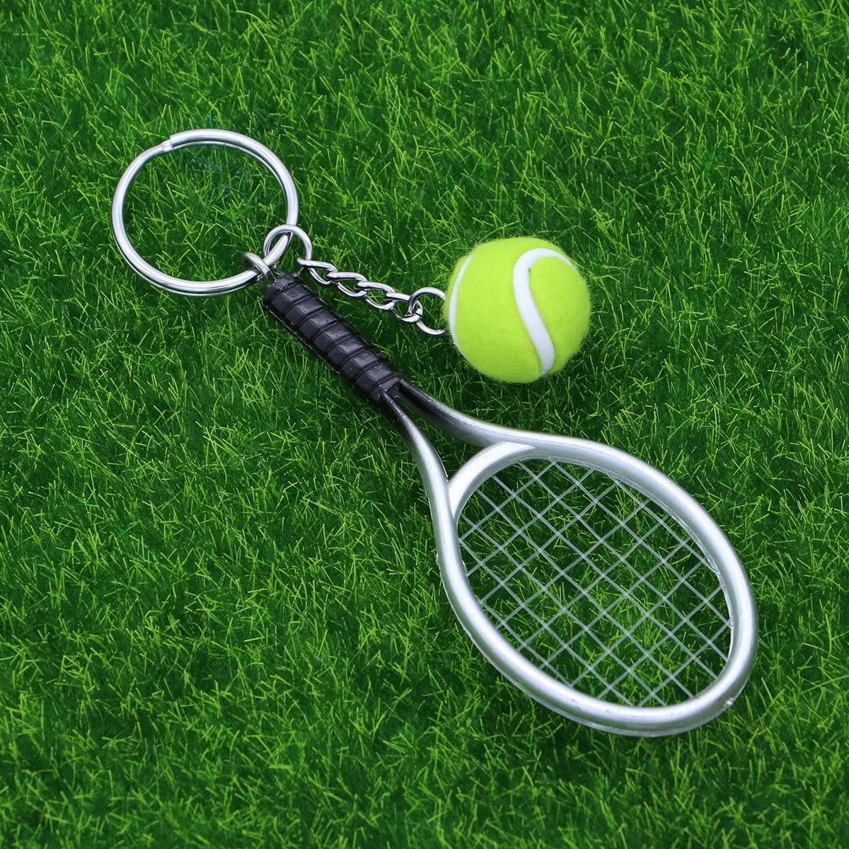 VOSAREA Schl/üsselanh/änger Sport Schl/üsselanh/änger Tennis Ball Schl/üsselanh/änger Keychain
