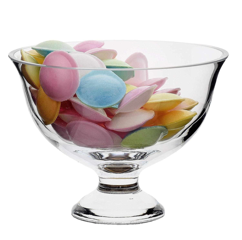 Trifle Bowl 1 L SOLAVIA Clear Glass Footed Dessert Bowl 21 x 11cm Ula Serve Bowl
