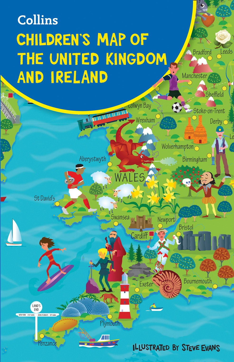 Childrens Folded Map Of The United Kingdom Amazoncouk Collins - United kingdom map