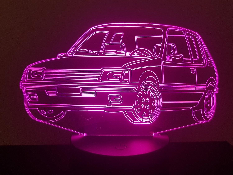 Lampe 3D Motif: Peugeot 205 GTI