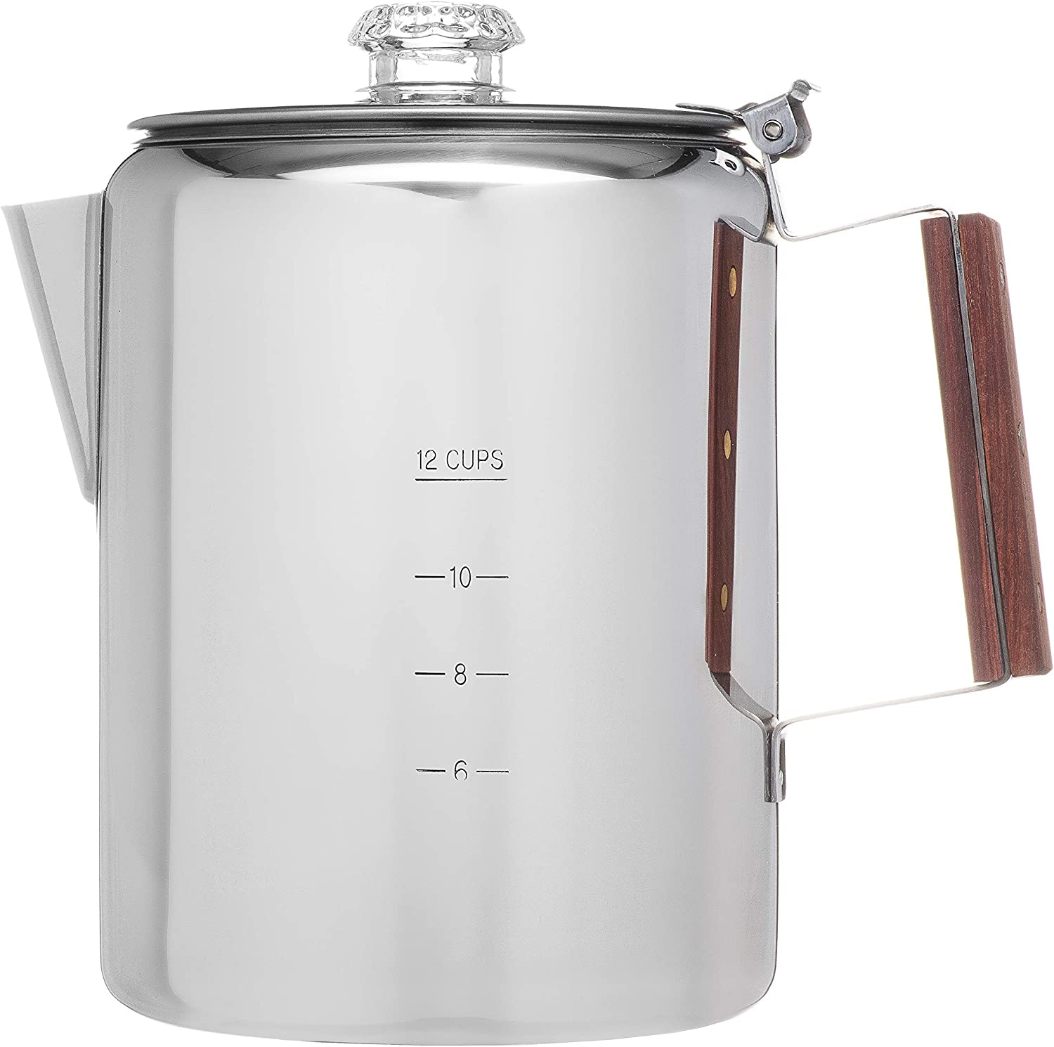 Coletti Bozeman Percolator Coffee Pot – 12 CUP Camping Coffee Pot Coffee Percolator