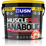 USN Muscle Fuel Anabolic Muscle Gain Shake Powder, Strawberry, 4 kg