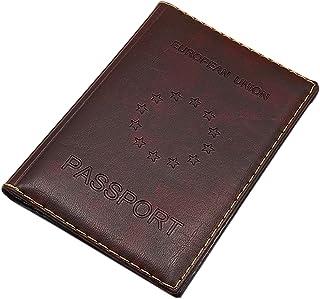Custodie per passaporto / Porta carte d'identità e carte di credito MJ-Design-Germany Made in UE in 3 diversi colori (Marrone)