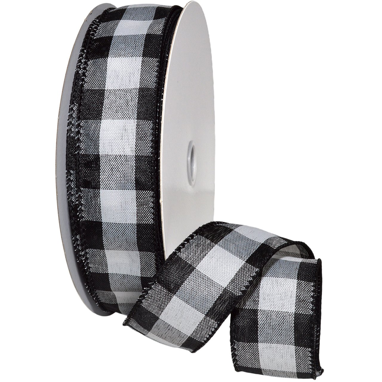Morex Cambridge Wired Taffeta Ribbon, 1-1/2 by 50 yd, Black 1-1/2 by 50 yd Morex Ribbon 7398.40/50-613