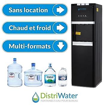 Distriwater - Dispensador de agua fría o caliente, esca o cálida, varios grifos para agua caliente y fría, para la oficina y la casa, color negro: ...