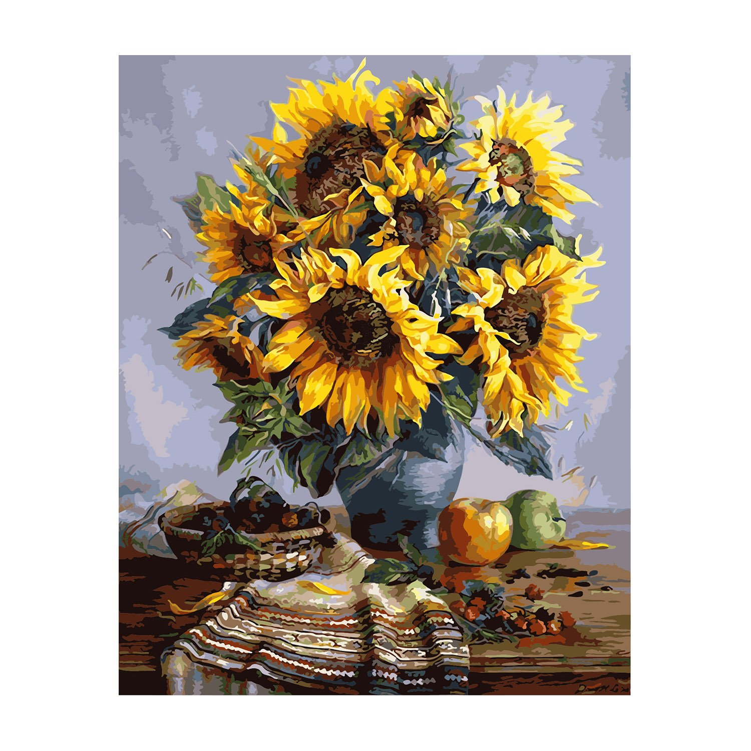 NeoConcept DIY Oil Painting, Adults' Paint by Number Kits, Acrylic Painting - Sunflower 16 by 20 Tuoyun
