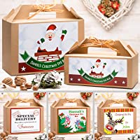 Personalised Christmas Eve Box | Gold Ribbon | 8 Fantastic Designs