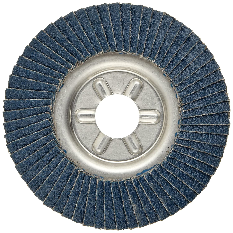 Round Hole 36 Grit Aluminum Backing Zirconia Alumina Type 29 4-1//2 Dia. Weiler 50512 Tiger Abrasive Flap Disc
