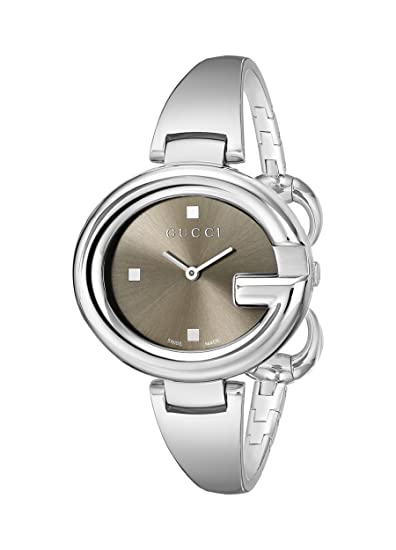 93d88bcdc50 Buy Gucci Women s YA134302 Guccissima Stainless Steel Bangle Watch Online  at Low Prices in India - Amazon.in