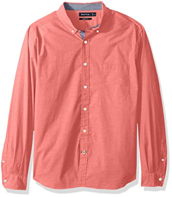 efbeea5b2bc Nautica Men s Big and Tall Classic Fit Stretch Solid Long Sleeve Button  Down Shirt