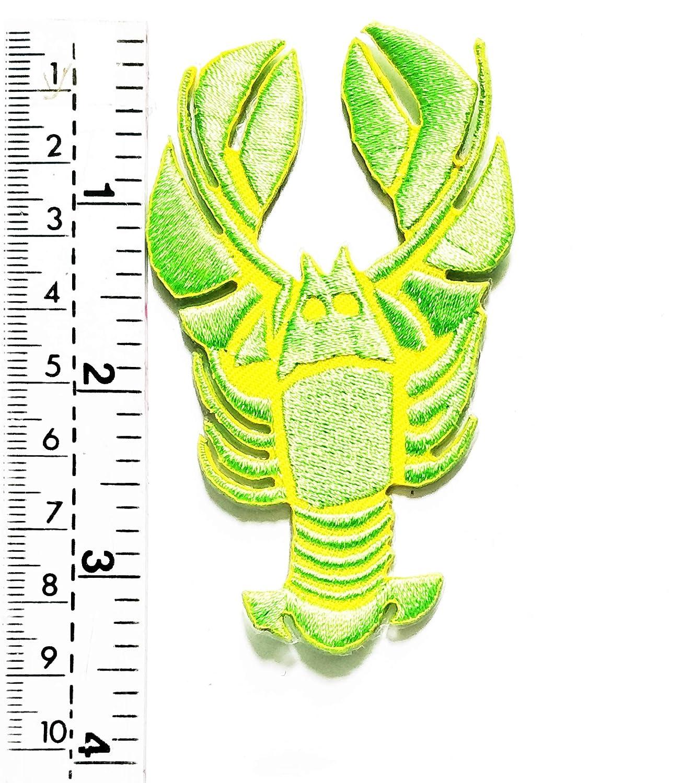 Tap Tap Animal Cartoon Patches Parche de camarón Verde con diseño ...