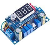 KNACRO DC Voltage Regulator Buck Converter 6-36V to 1.25-32V 5A Constant Current Voltage MPPT Solar Controller with LED Voltmeter Ammeter Power Display for Charging Battery Car Power