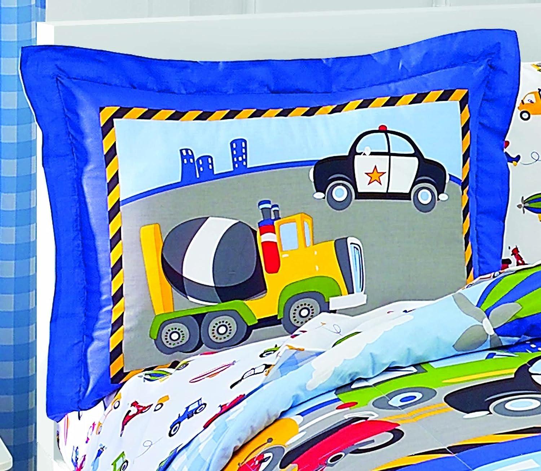 amazon com dream factory trucks tractors cars boys 5 piece