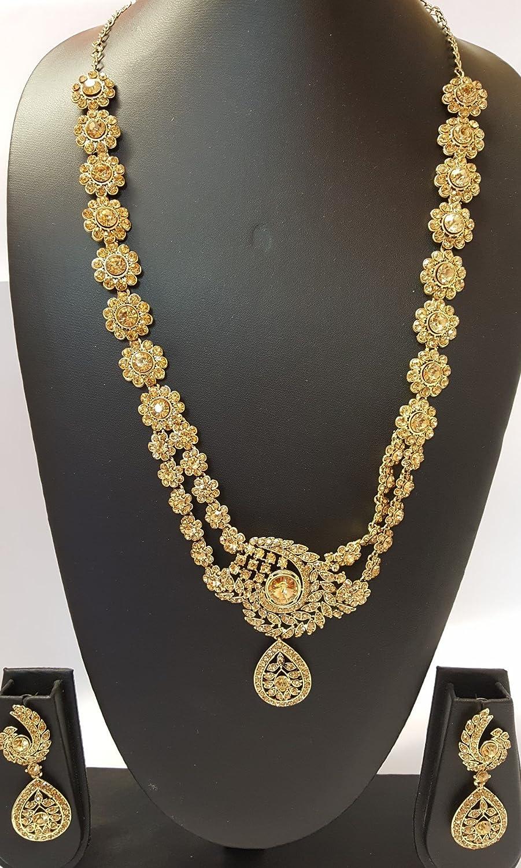Rani Haar Bollywood Long Indian Bridal Long Necklace with Locket ...