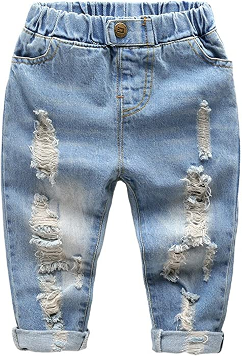 Boys' Clothing (newborn-5t) Bottoms Next Baby Boy Jeans Ripped Blue Denim 3-6 Months Comfy Fashionable Patterns