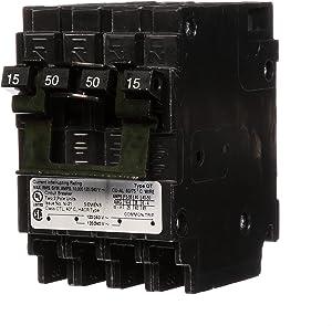 Siemens Q21550CT2 15-Amp Double Pole/50-Amp Double Pole 10-Kaic Circuit Breaker