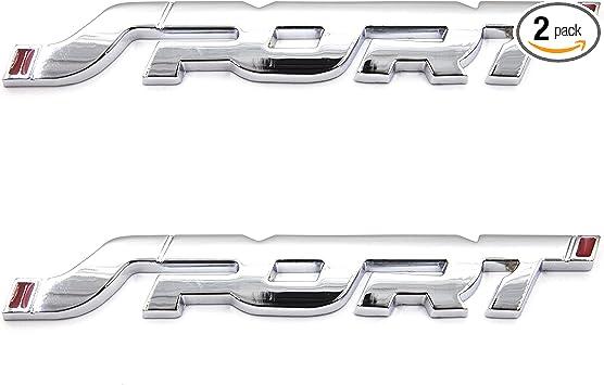 SPORT 3D Decal Metal Auto Car Truck Front Grille Side fender Emblem Badge